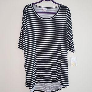 LuLaRoe Irma Black w/ White Stripe 3X